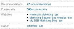 LinkedIn Edit Website Links