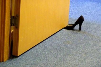 Foot in door