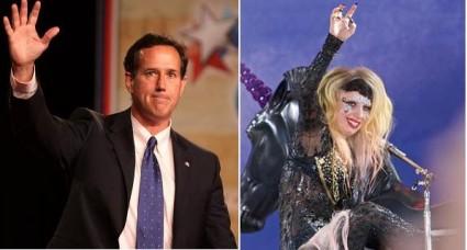 Rick Santorum Lady Gaga Headlines