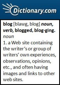 what does blog mean