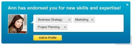 LinkedIn Endorsement Approval