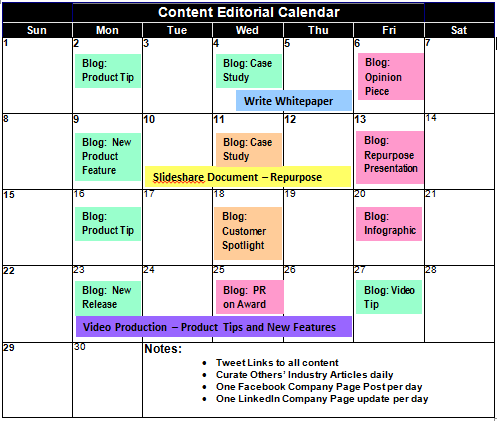 Discipline and a plan are keys for success in content for Strategic planning calendar template